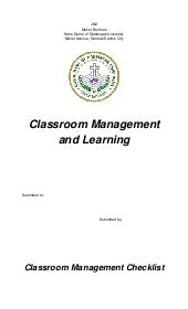 Fs 1 part 3 ( classroom management )
