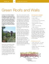 Green Roofs and Walls in Australia