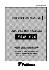 Fujukura Fsm 50 s manual
