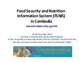 Food Security & Nutrition Informati...