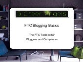 Ftc Basics Webinar by 3 Green Angels