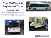 Fuel cell vehicle projects in texas...