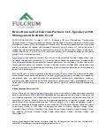 Fulcrum Partners LLC, Media Release March 21, 2013