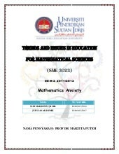 mathematics anxiety