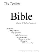 The Techi Bible: The New Testament