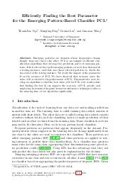Efficiently finding the parameter f...