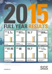 SGS 2015 Full Year Results