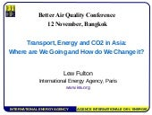 Transport, Energy and CO2 in Asia: ...