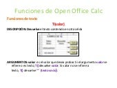 Funciones de open office calc