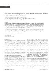 Functional echocardiography in the fetus with non cardiac disease
