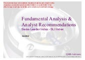 Fundamental Analysis & Analyst ...