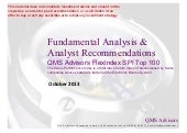Fundamental analysis & recommendati...