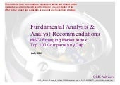 Fundamental Equity Analysis and Ana...