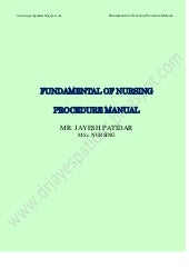 Fundamental of nursing procedure ma...