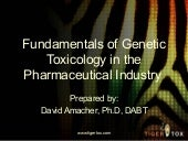Fundamentals Of Genetic Toxicology ...