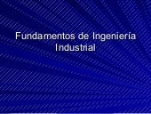 Fundamentos De IngenieríA Industrial