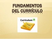 Fundamentos del curriculo educativo