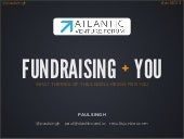 Fundraising For Startups - Atlantic Venture Forum - June 2013