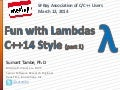 Fun with Lambdas: C++14 Style (part 1)