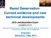 Fusaro - Renal Denervation, current...