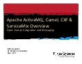Apache ActiveMQ, Camel, CXF and ServiceMix Overview