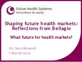 Shaping future health markets: Refl...
