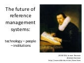 The future of reference management ...