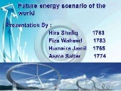 Future energy scenario of world