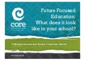 Future focused education - what does it look like?