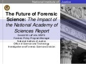 Future forensic science