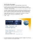The Future of Convergence in 2015, presented at SXSW 2010