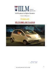 Future Of Tata Nano