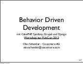 Workshop: Behavior Driven Developme...