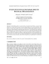 FUZZY STATISTICAL DATABASE AND ITS ...