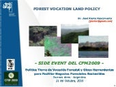 Forest Vocation Land Policy. Concepts