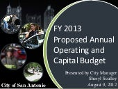 Fy 2013 Proposed Budget Presentation