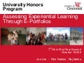 Assessing Experiential Learning Through E-portfolios