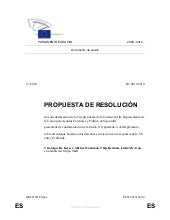 Resolución del Parlamento Europeo s...