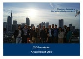 G20 Foundation - Annual Report 2013