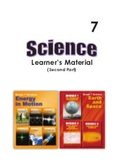 G7 science student modules  3rd & 4...