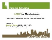 Ga 08 07 02 Leed For Manufacturers