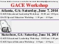 GACE WORKSHOP – EDUCATIONAL LEADERSHIP AND SPECIAL EDUCATION