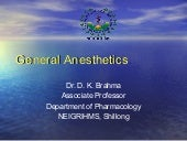 General Anaesthetics - drdhriti