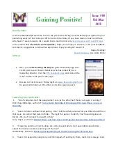 Gaining Positive Issue 9