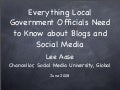 Social Media in City and County Government