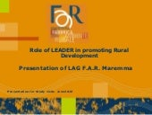 GAL FAR MAREMMA, Role of LEADER in ...