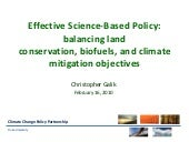 Effective Science-Based Land-Use Po...