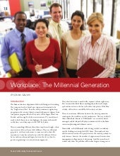 Workplace: The Millennial Generation