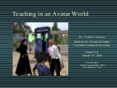 GameTech_Teaching in an Avatar World