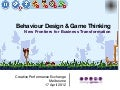 Game thinking & behaviour design